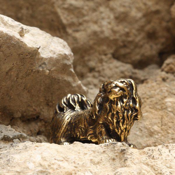 бронзовые украшения статуэтка миниатюрная фигурка собака пекинес купить в симферополе