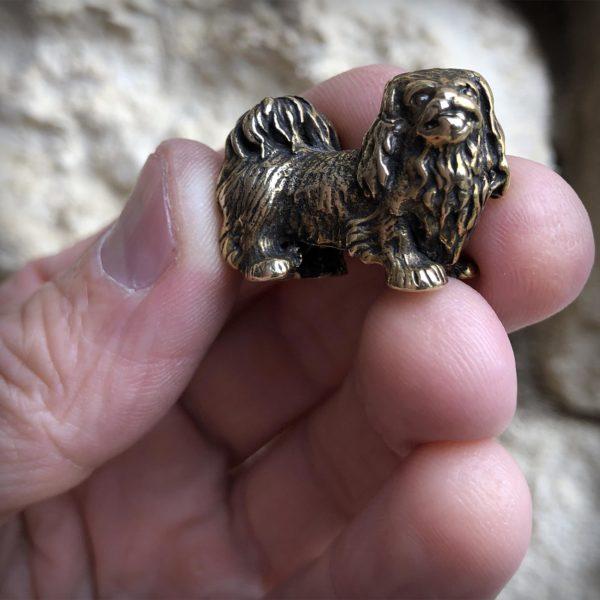 собака бронзовая статуэтка пекинес купить в крыму оптом