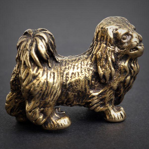 куптьи украшения оптом кулоны кольца статуэтки собака пекинес купить фигурку