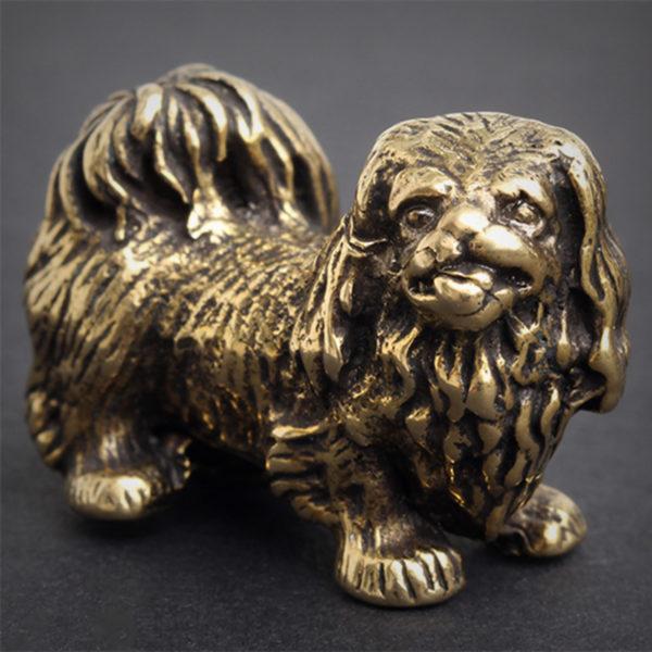 собака бронзовая статуэтка пекинес купить в симферополе