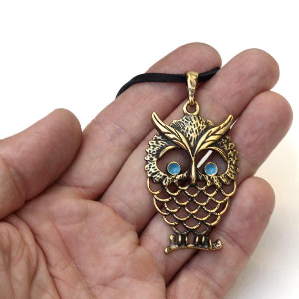 украшение для вечеринки бронзовый кулон сова