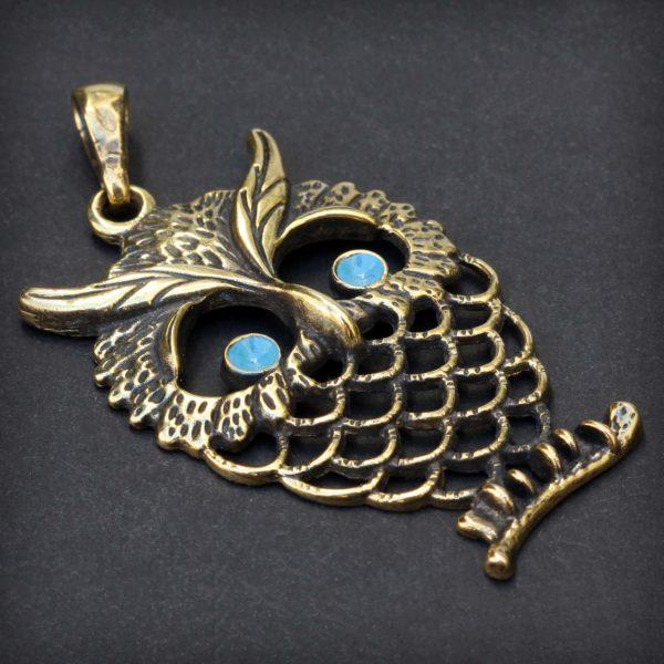 бронзовый кулон сова подарок девушке