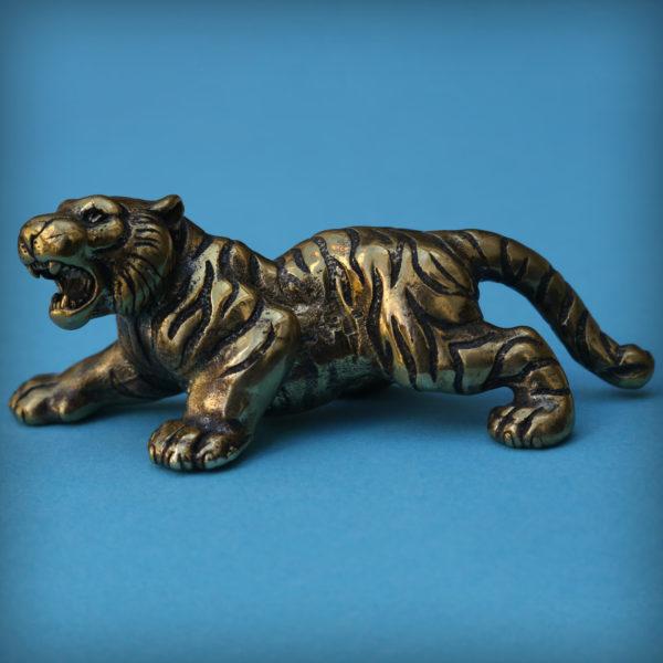 тигр бронзовая статуэтка фигурка тигр купить в симферополе подарок новый год 2022