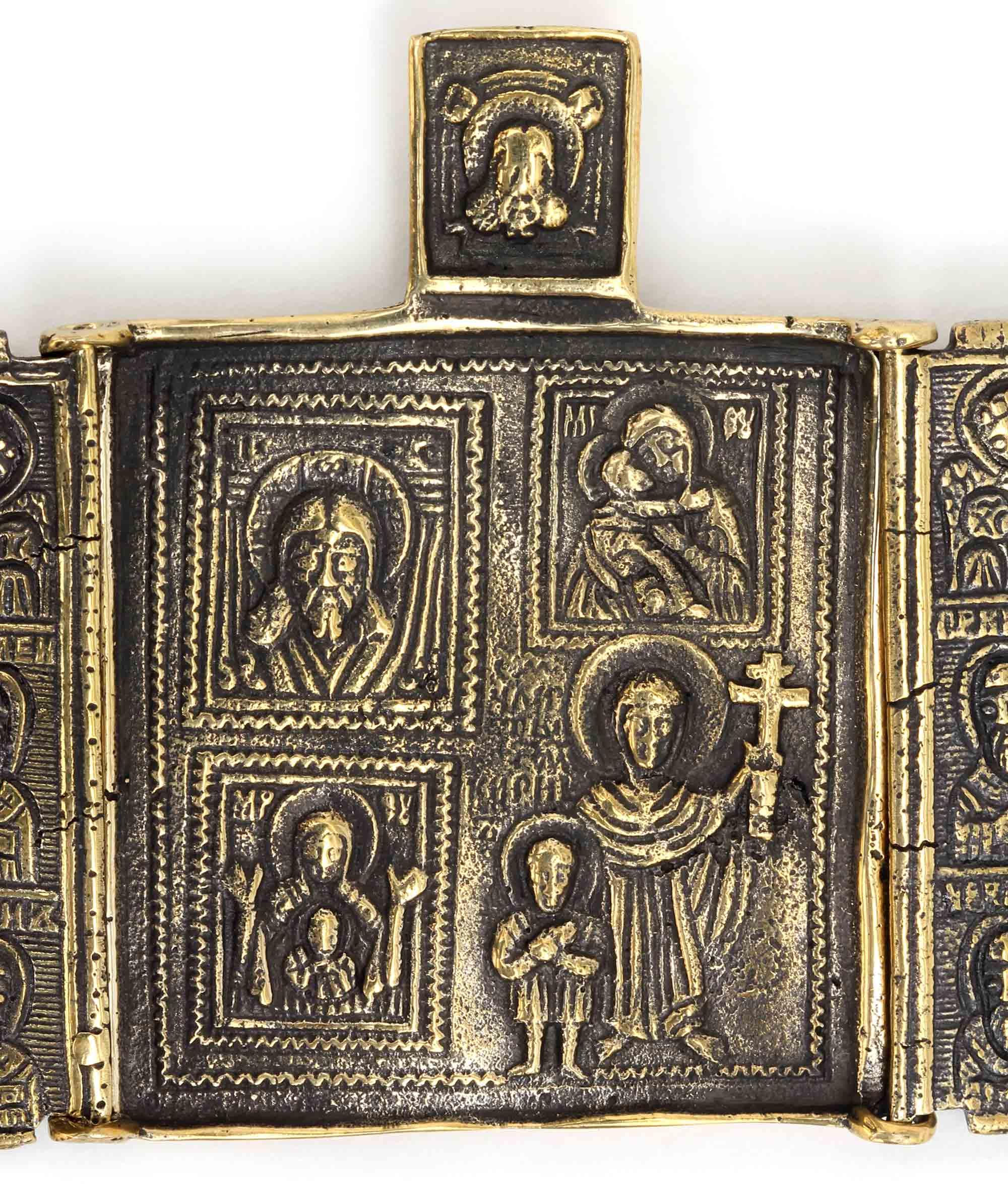 четырёхчастная икона складень триптих спас богоматерь владимирская богоматерь знамение кирик и иулитта купить в симферополе
