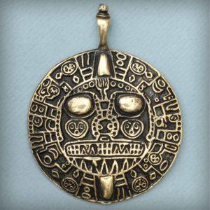индейские украшения золотой диск инти перуанский амулет купить в симферополе в крыму