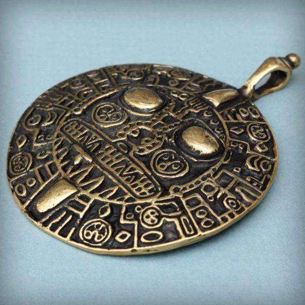 индейские украшения инков золотой диск инти перуанский амулет купить в симферополе в крыму