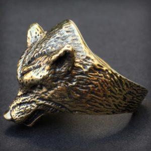 бронзовое кольцо волк купить подарок парню в симферополе