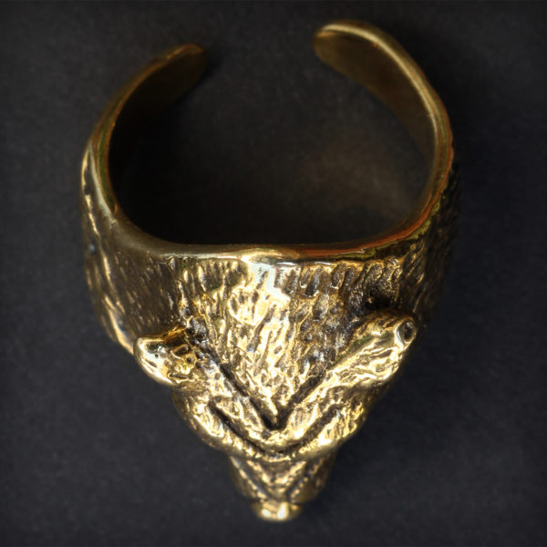 бронзовое кольцо безразмерное купить кольцо с головой волка в симферополе