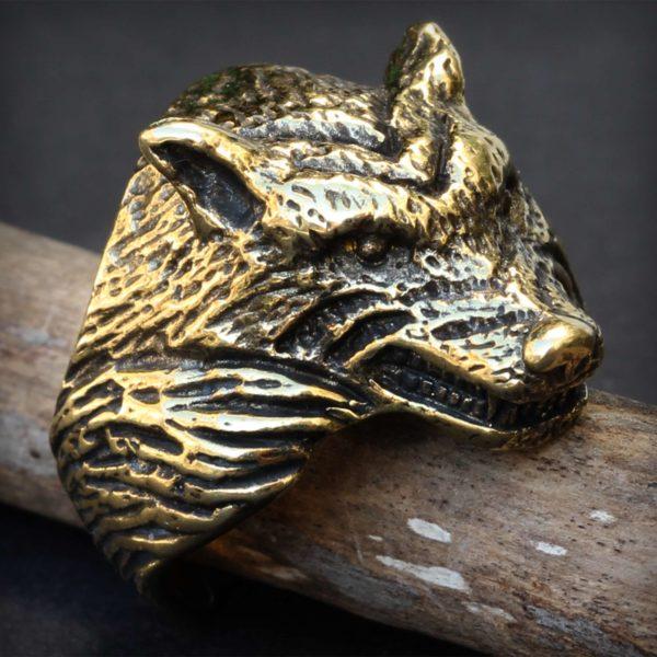 бронзовое кольцо волк купить в симферополе в крыму оптом