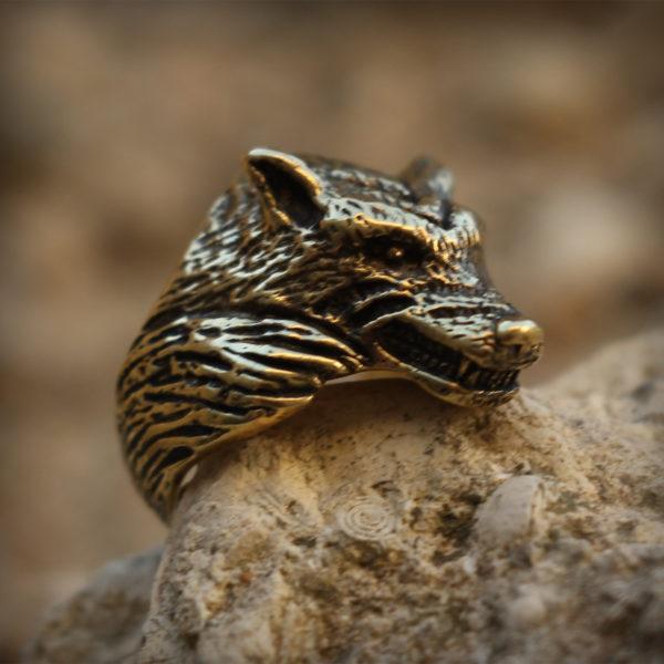 бронзовое кольцо волк купить в симферополе в крыму