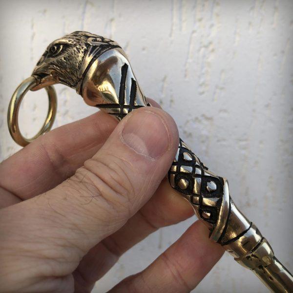украшения с вороном обувной рожок для обуви бронзовый