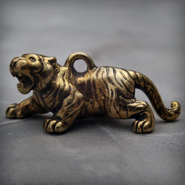 тигр бронзовая статуэтка фигурка брелок тигр купить в симферополе подарок новый год 2022