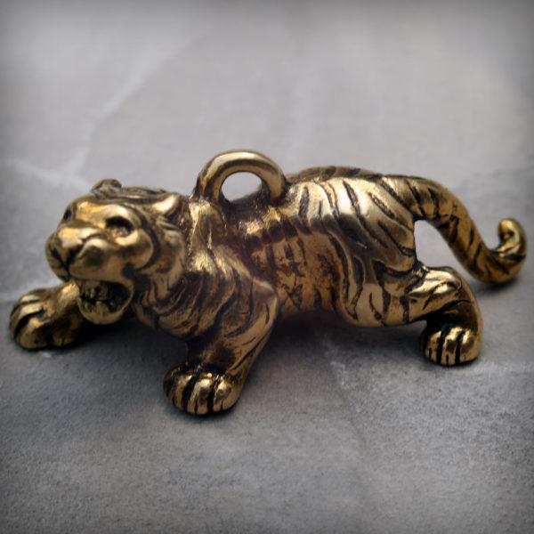 бронзовые украшения оптом купить тигр брелок статуэтка высокая детализация