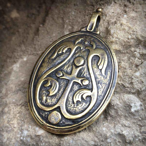 оранта икона знамение пресвятой богородицы кулон процыетший крест бронзовые украшения оптом и в розницу