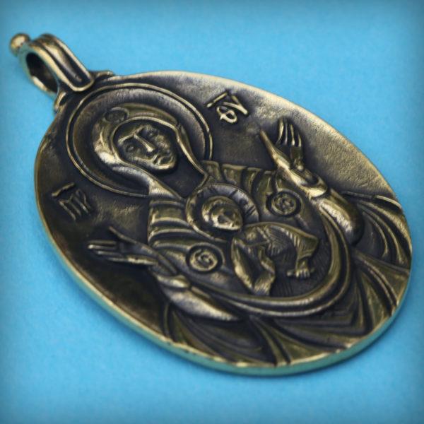 знамение пресвятой богородицы кулон бронзовый купить в симферополе оптом и в розницу