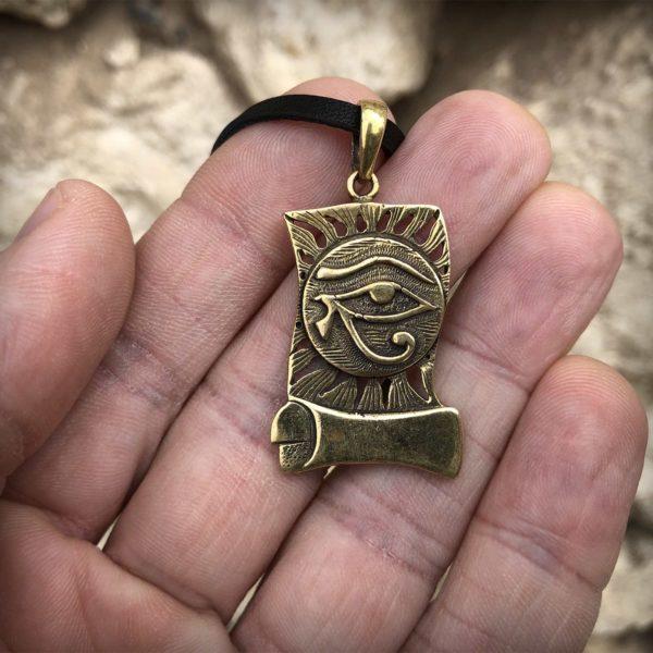 древнеегипетский амулет уаджет уджат Око Гора Глаз Гора кулон бронзовый купить