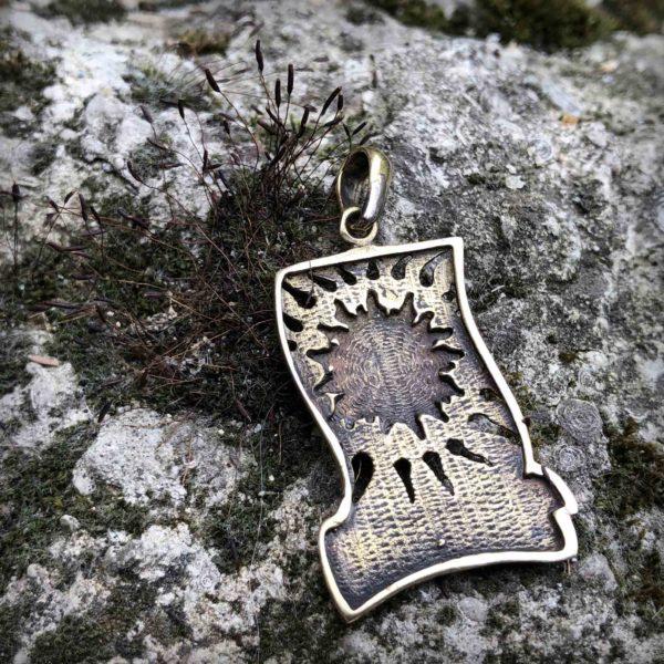 Глаз Гора бронзовый кулон купить в интернет магазине Bronzeland Бронзленд