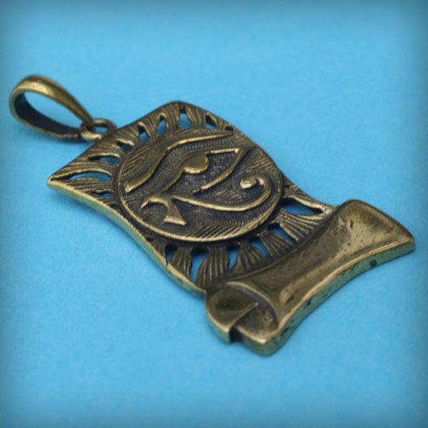 Глаз Гора амулет древнего египта Уаджет Уджат кулон бронзовый купить в крыму
