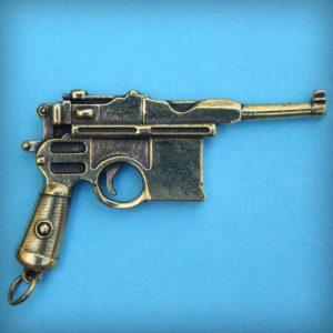 маузер брелок пистолет бронзовый брелок купить в интернет магазине bronzeland оптом и в розницу
