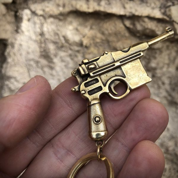 бронзовые украшения кулоны кольца брелоки модель пистолета маузер купить в симферополе подарок парню