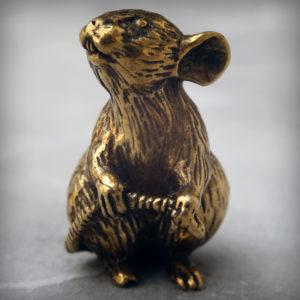 мышь статуэтка бронзовая фигурка мышь миниатюрная статуэтка мышка купить в симферополе