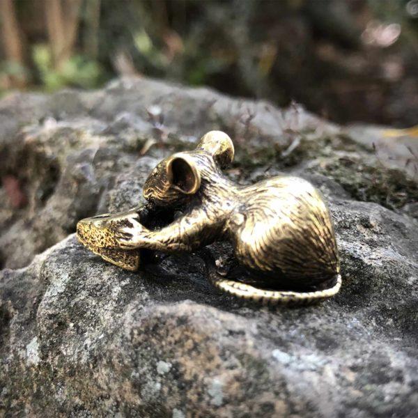 статуэтка мышь фигурка из бронзы высокая детализация купить в интернет магазине бронзленд bronzeland