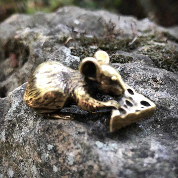 бронзовая статуэтка высокая детализация мышь статуэтка купить в симферополе