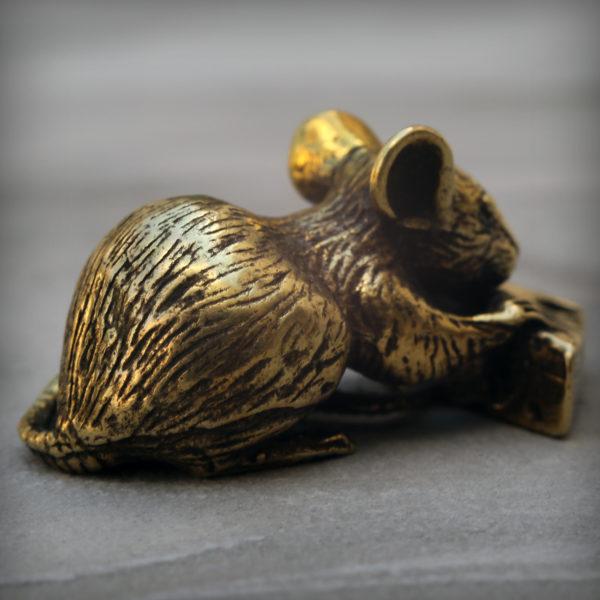 фигурка мышь с сыром бронзовая статуэтка купить в симферополе подарок