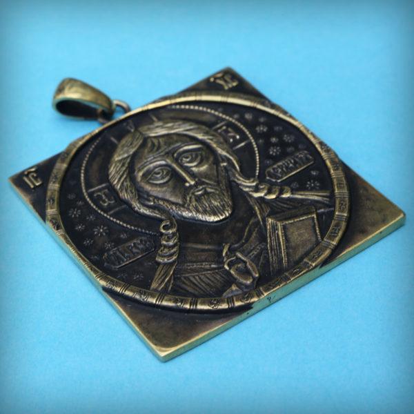 христианские украшения оптом купить в симферополе бронзовый кулон Спас Всемилостивый