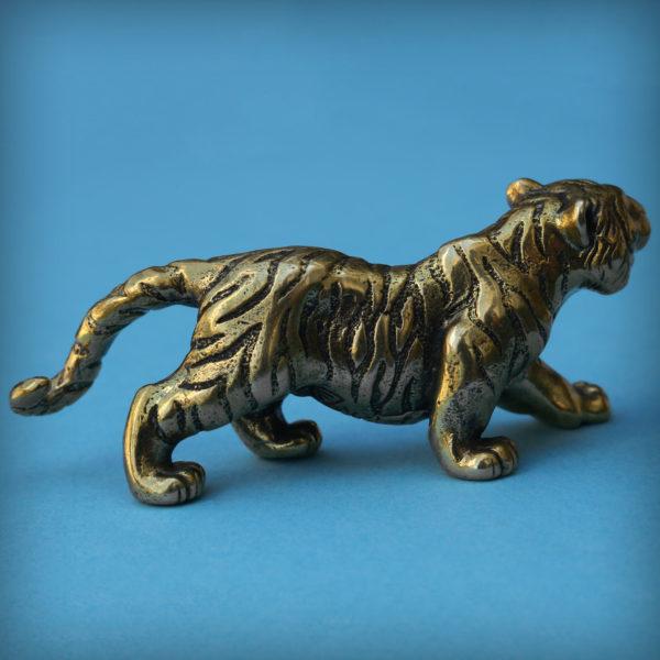 тигр статуэтка бронзовая фигурка тигр купить оптом новогодний подарок 2022 сувенир тигр